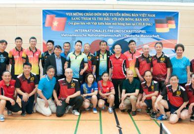 Ảnh thi đấu giao hữu và giao lưu của đội tuyển bóng bàn quốc gia Việt Nam tại Berlin 12-05-2018